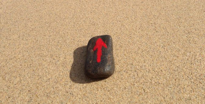 End of the story of the stone with the red arrow